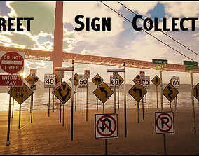 Street Sign Collection - FBX included 3D asset