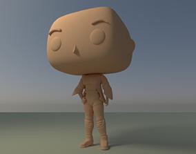 Custom Pop Girl Backpack No Hair DIY Figure 3D Print
