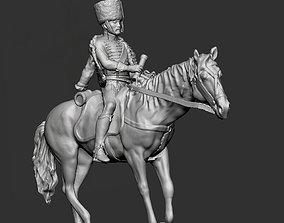 Horseback Napoleon Hussar with fur cap 3D printable model