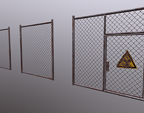 3D model Wire Chain Link Fence