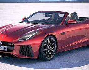 3D model Jaguar F-Type SVR Cabrio 2018