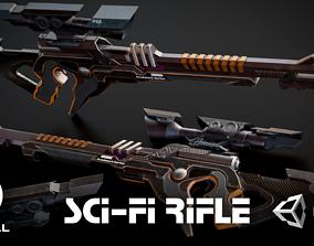 Sci-fi Assault Rifle 3D model