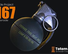 3D asset M67 Frag Grenade