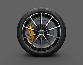 3D model realtime Car Wheel Game Ready