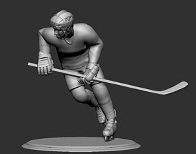 Hockey Player Collectible Figure Statue Runner 3D 3