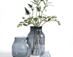 3D model Omaggio Vases with Flowers