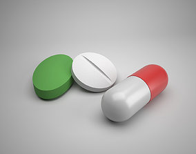 Medicine Pills 3D asset low-poly