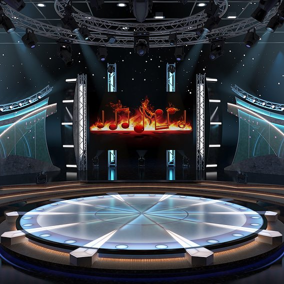TV Studio Entertainment Set 5