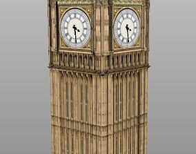 VR / AR ready Big Ben 3D low poly model