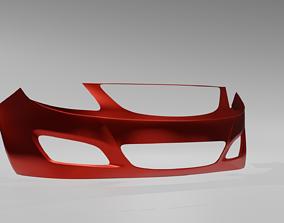 Hatchback Front Bumper 3D