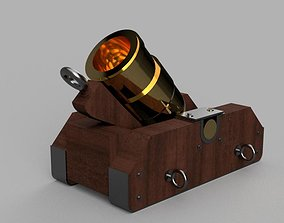 3D asset Coehorn mortar cannon