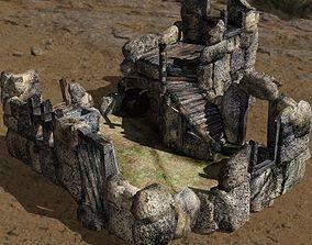 3D asset Ruined Trollhouse in fbx format