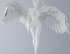 Evil angel walking 3D printable model