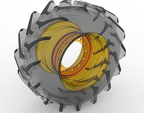 3D model Frontal Wheel Tractor