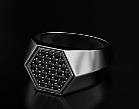 Stylish ring with diamonds 607 3D print model