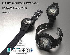 3D Casio G Shock DW 5600 Watch