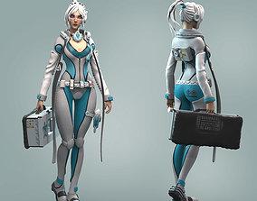 Doctor of the future Sci fi 3D print model human