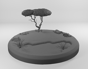 3D print model Small Savannah environment
