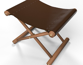 Leather Stool 3D