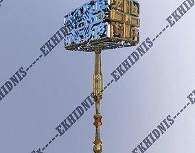Ornamented Hammer 3D asset