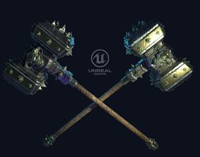 3D model Spiked warhammer