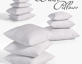 White pillows 03 3 sets 10 different Pillows 3D