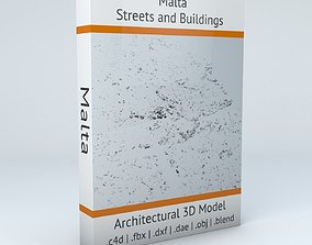 3D model Malta Streets and Buildings