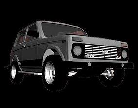 3D asset Lada Niva VAZ 21213