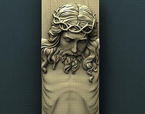Jesus 3d stl model for cnc