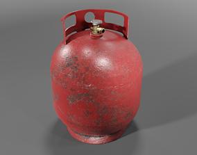Gas bottle 3D model low-poly