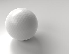 glossy 3D model Golf Ball