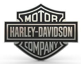 3D model logos harley davidson logo