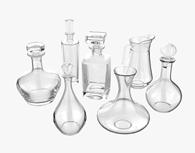 Set of decanters pub 3D