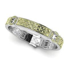Bracelet with patterns antique bracelet 3D print model