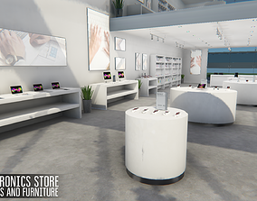 Electronics store - devices and furniture 3D model