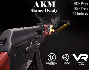 3D model AKM 7 62mm Game ready low-poly