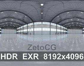 HDRI - Airplane Hangar Interior 5b - 8192x4096 3D asset