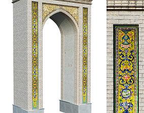 3D asset old islamic arabic turkish arch set 144