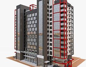 3D model European Residential High-rise