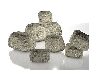 game-ready Realistic Low Poly 3D PBR Rocks