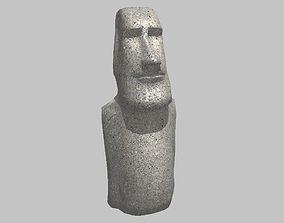 Easter Island Moai Statue 3D asset