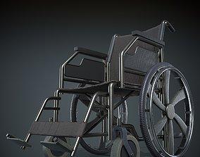 Wheelchair PBR Textured 3D asset