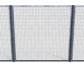 3D asset Low Poly Modular Fence 17