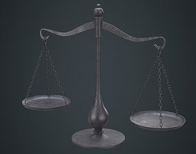 Balance Scale 1B 3D model low-poly
