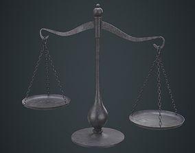 Balance Scale 1B 3D model low-poly