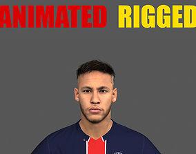 Neymar Jr Animated Rigged 3D animated
