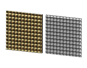 3D printable model moldings Bubble pattern panel