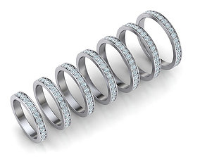 Eternity Diamond Wedding band with 2mm stones