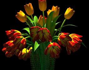 tulpin in vase 3D