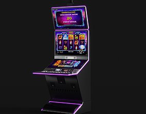 casino slot machine 3D model coin